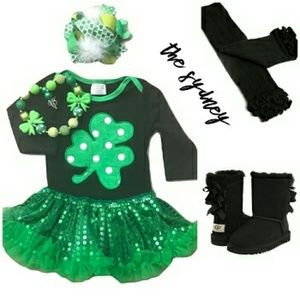 Other - Lil girls st Patrick's day outfit